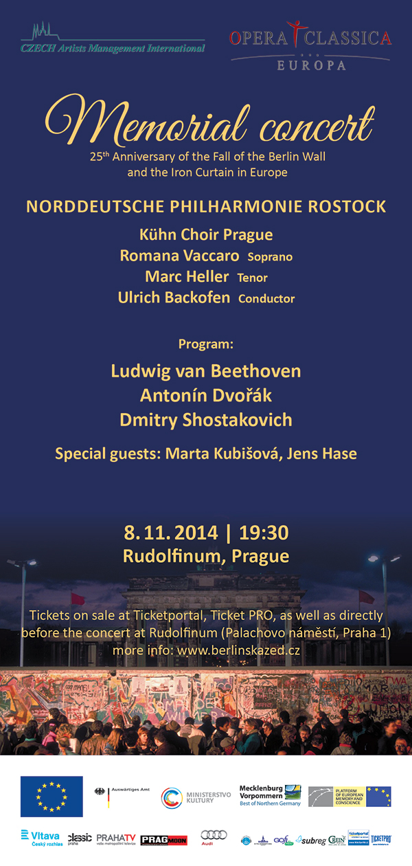 Platform invites to Concert on the 25th Anniversary of the Fall of the Berlin Wall and the Iron Curtain  in Prague