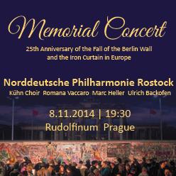 1. Pamětní koncert k 25. výročí pádu Berlínské zdi a železné opony v Evropě