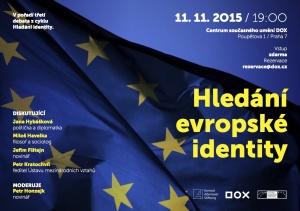 """Searching for a European identity"" debate in Prague, 11 November 2015"