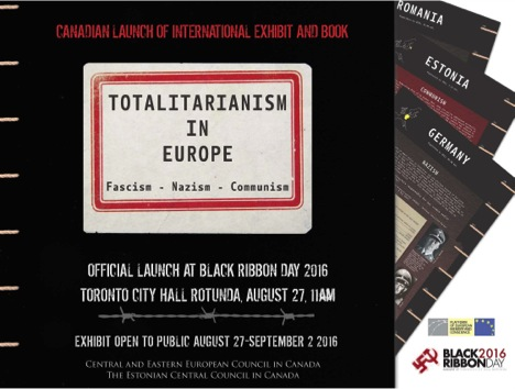 Canadian launch of Platform Exhibition and Reader on European totalitarianism at Toronto City Hall on 27 August 2016