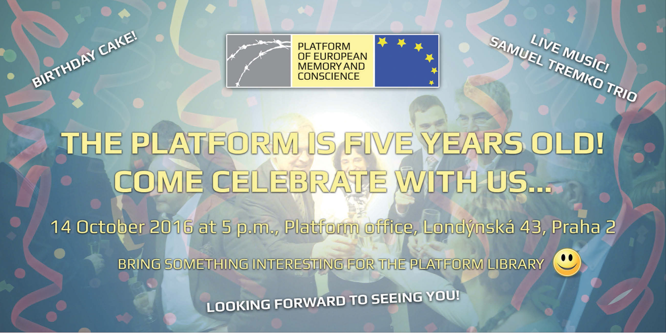 Fifth anniversary celebration of the establishment of the Platform on 14 October 2016