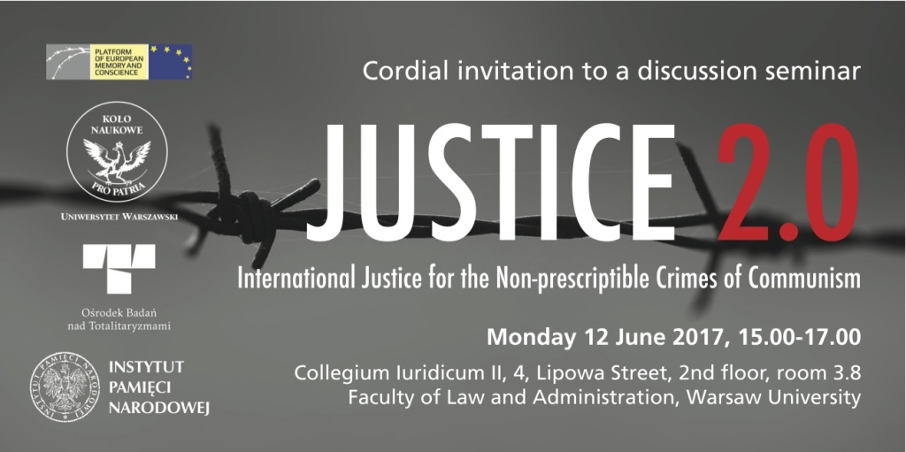 """JUSTICE 2.0″ – presentation at the Faculty of Law and Administration, University of Warsaw, 12 June 2017"