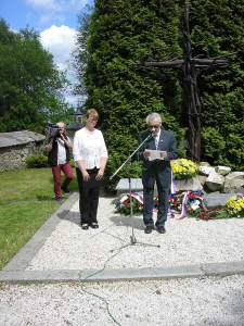 "Commemoration event in former Communist concentration camp ""Hell of Jáchymov"", Czech Republic on 26 May 2017"